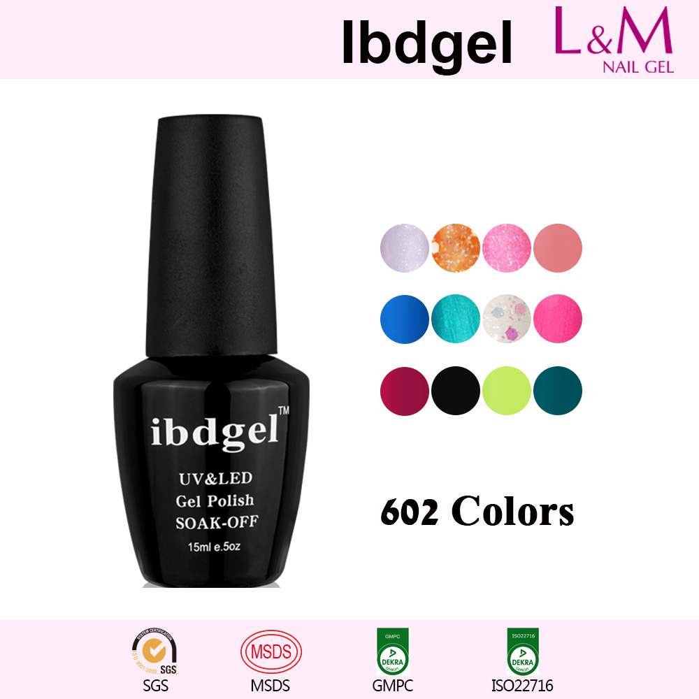 【COLOR GEL】IBDGEL Soak-off UV Gel Nail Polish 602 Colors For Choose