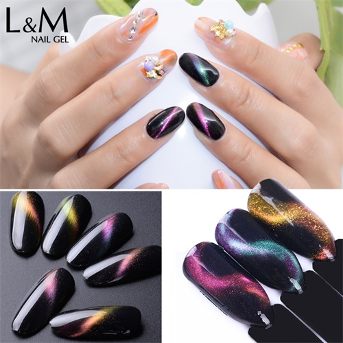 Magic Chameleon Cat Eye1pc Eye Soak Off Gel Nail